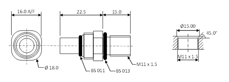 Mini-coaxial bulkhead dimensions