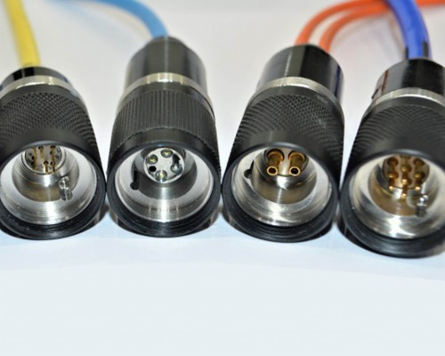 CEEP Subsea / Underwater Modular Size 3. Originally designed as a twin coax with 4 electrical contacts connector set for a specific requirement. A full Subsea Hybrid / Coaxial / Electrical range has been developed to meet the harsh requirements of underwater communications and control while providing high quality interconnections. The connectors comprise commercially available contacts within in-house designed and manufactured housings. A wide variety of standard configurations are available with Electrical, Coaxial, Ethernet contacts or a combination. Non-standard inserts can also be accommodated if required.