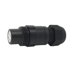 CEEP 920114V000SD2, 14V, 4 pin female inline connector, without locking ring, solder contacts 4 x 10A, IP67, black non-conductive finish.