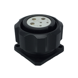 CEEP 920926R000S020, 26R, 6 pin female panel connector, with locking ring.