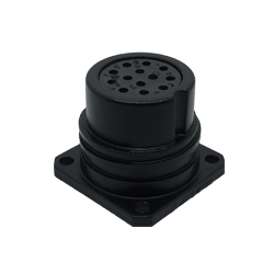 CEEP 9202213AN0S020, 213AN, 13 pin female panel connector, without locking ring, 13 x 10A Solder Contacts, IP67, black non conductive finish.