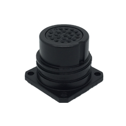 CEEP 9202222P00S020, 222P, 22 pin female panel connector, without locking ring, 22 x 7.5A Solder Contacts, IP67, black non conductive finish.