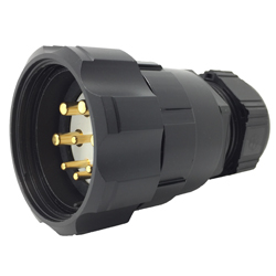 CEEP 920648M000PE00, 48M, 8 pin male inline connector, with locking ring, solder contacts 4 x 25A, 4 x 50A, IP67, nickel conductive finish.