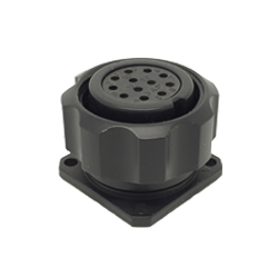 CEEP 9209212AF0S020, 212AF, 12 pin female panel connector, with locking ring, 12 x 10A Solder Contacts, IP67, black non conductive finish.