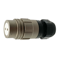 CEEP 920122B000SA00, 22B, 2 pin female inline connector, without locking ring.