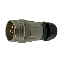 CEEP 920126R000PA00, 26R, 6 pin male inline connector, without locking ring.