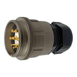 CEEP 920148M000PE00, 48M, 8 pin male inline connector, without locking ring, solder contacts 4 x 25A, 4 x 50A, IP67, nickel conductive finish.