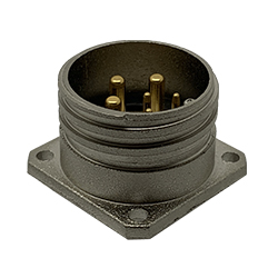 CEEP 920226R000P000, 26R, 6 pin male panel connector, no locking ring.