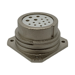CEEP 9202315K00S000, 315K, 15 pin female panel connector, without locking ring, 4 x 25A & 11 x 10A Solder Contacts, IP67, nickel conductive finish.