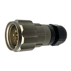 CEEP 920626R000PA00, 26R, 6 pin male inline connector, with locking ring.