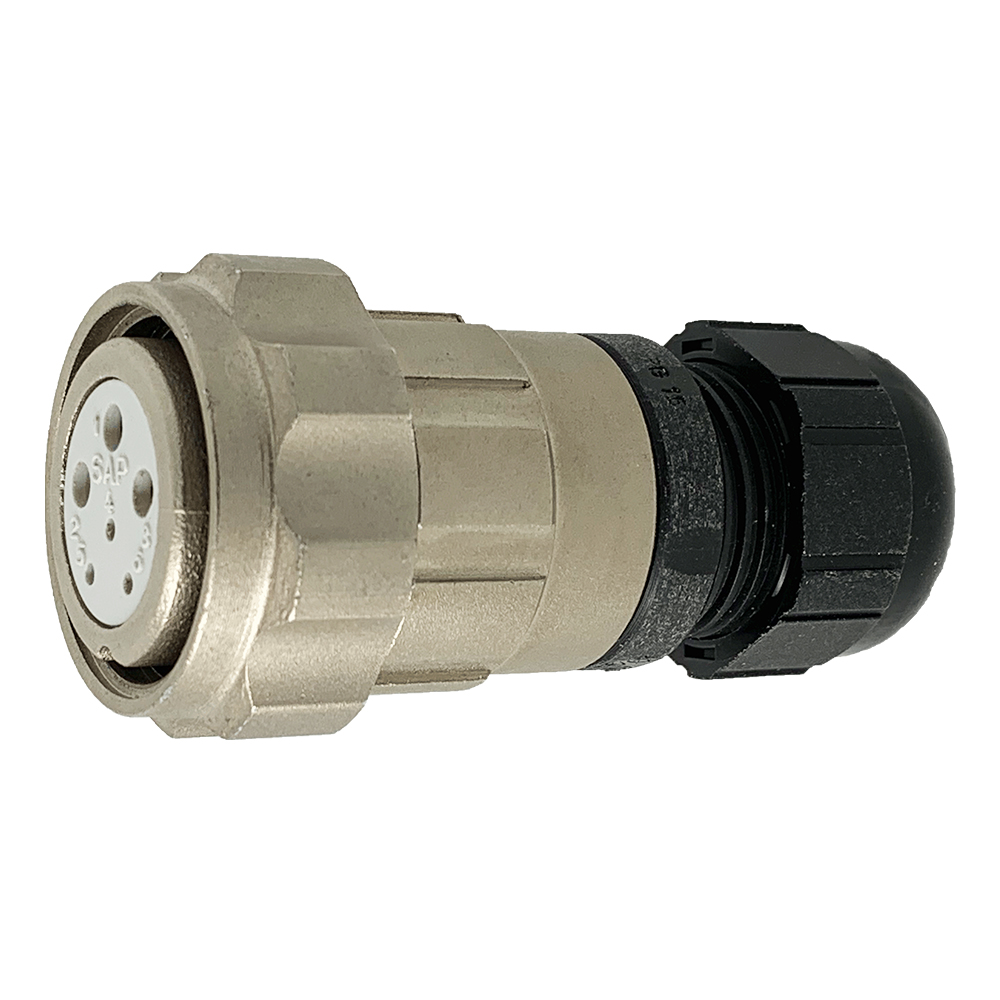 CEEP 920626R000SA00, 26R, 6 pin female inline connector, with locking ring.