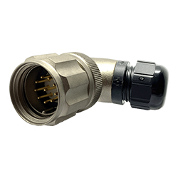CEEP 9208210AO0PA00, 210AO, 10 pin male right angle connector, with locking ring, solder contacts 10 x 10A, IP67, nickel conductive finish.