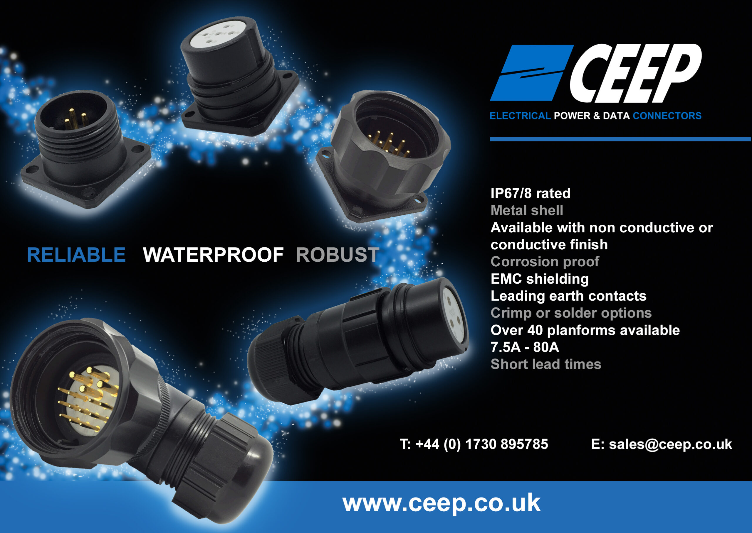Waterproof circular connectors