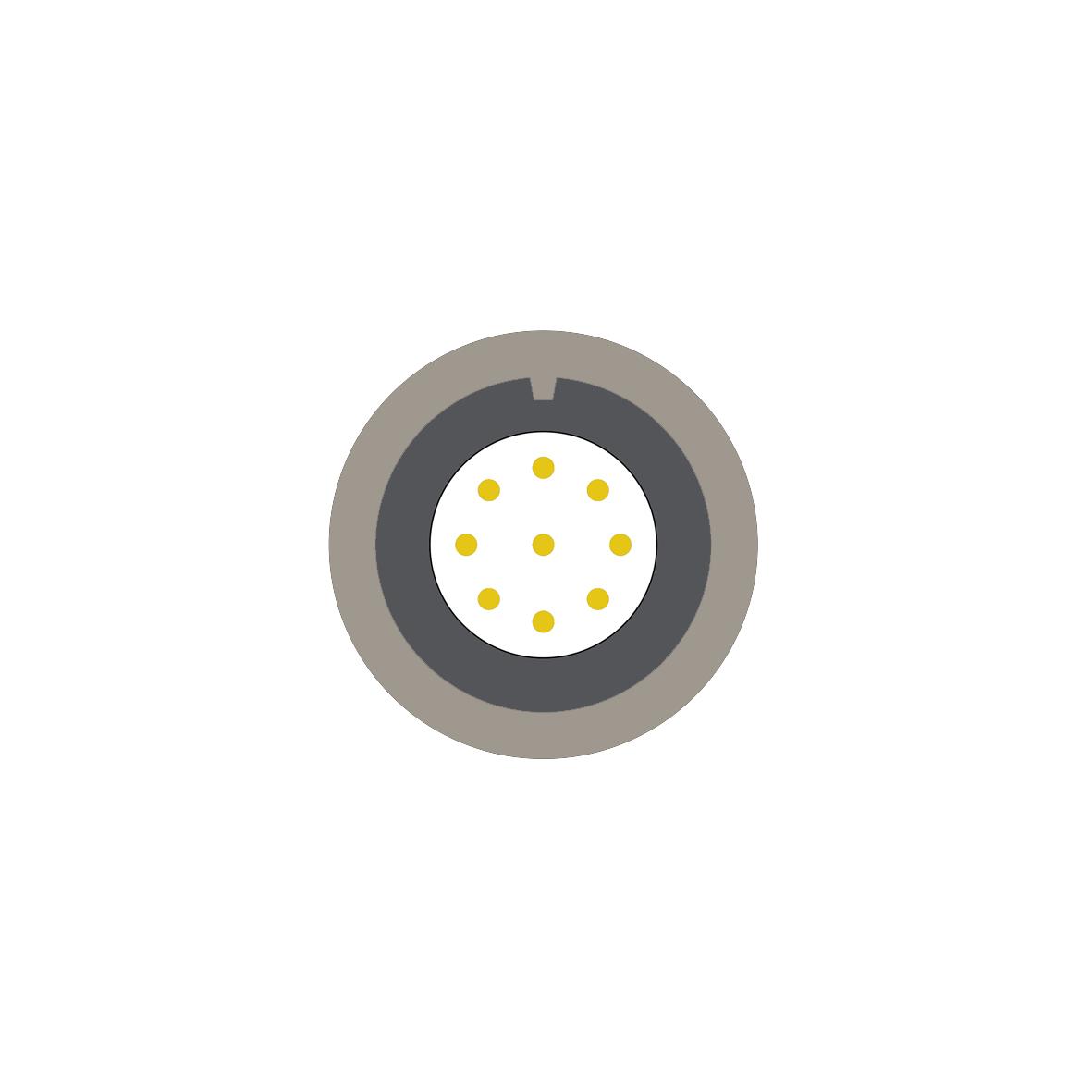 19cd (0) 9 way connector