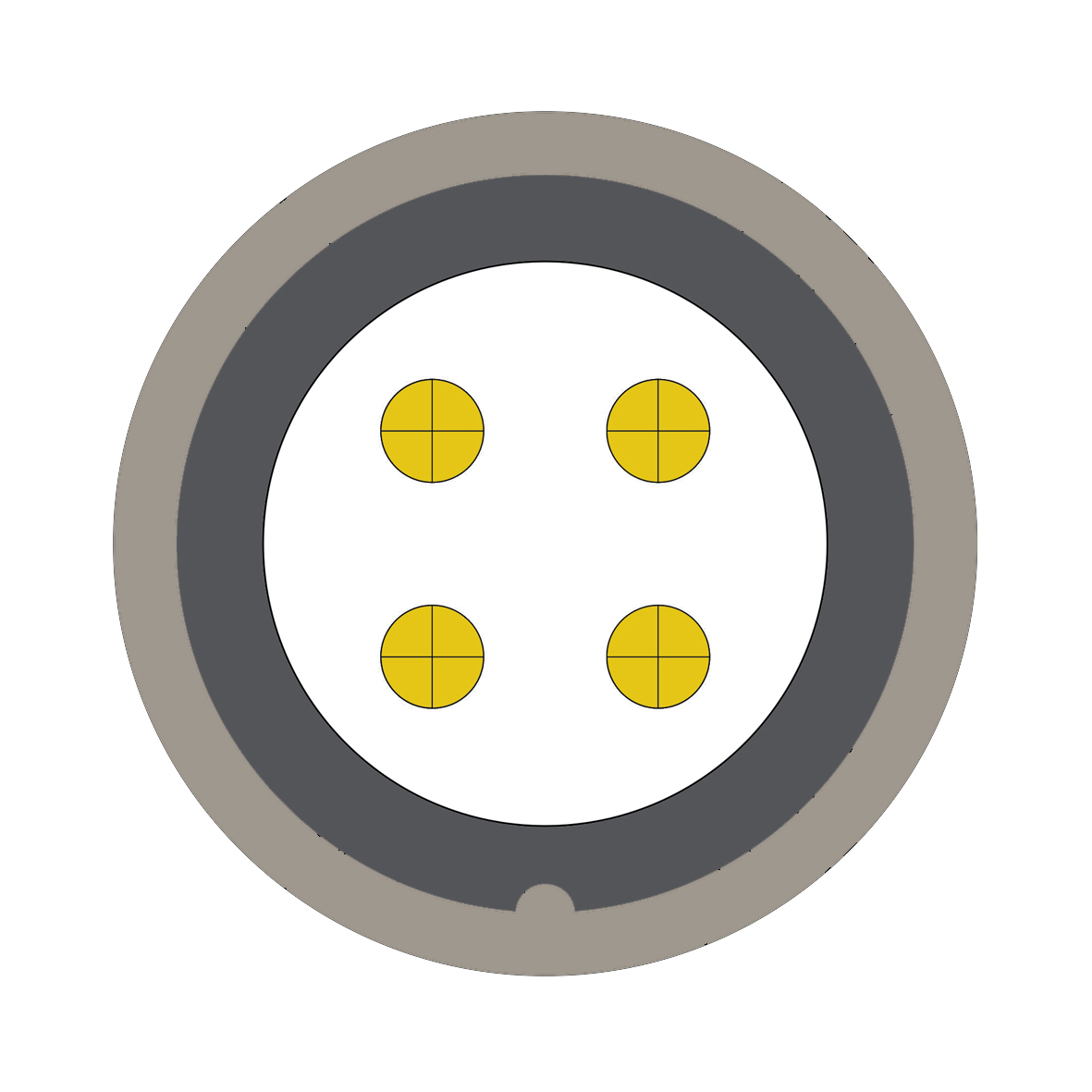 34H (0) 4 way connector