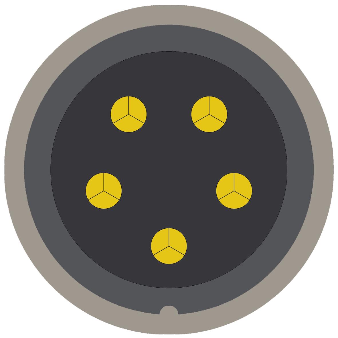 45CX (0) 5 way connector