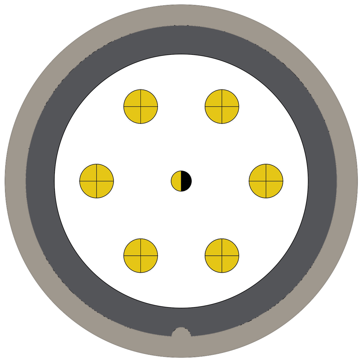 47M (0) 7 way connector