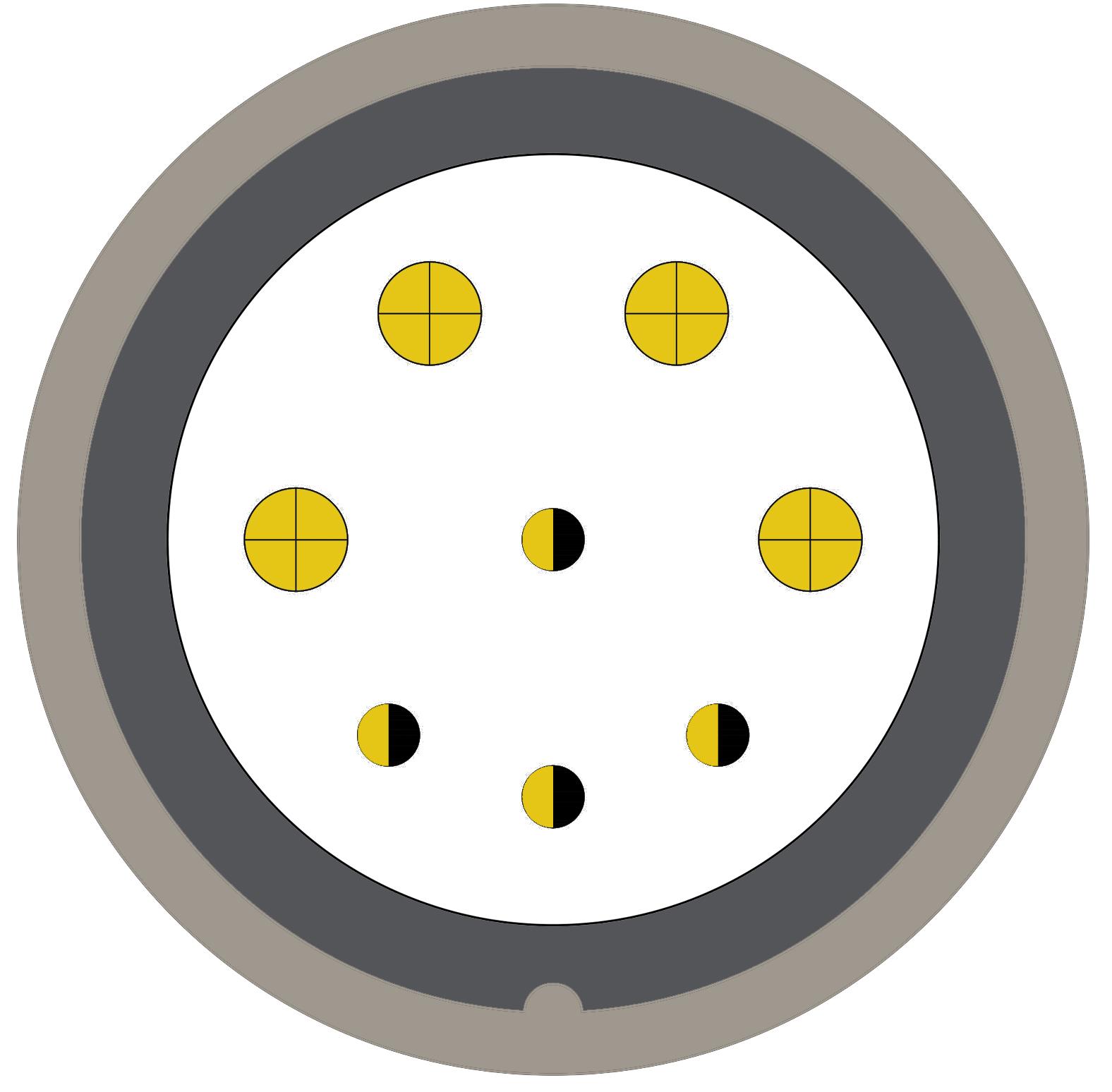 48M (0) 8 way connector