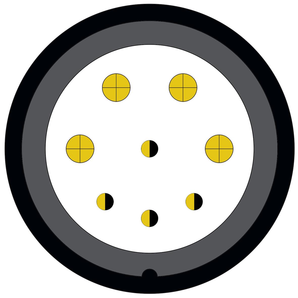 48M (2) 8 way connector