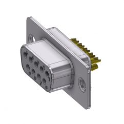 9 way female solder sub d connector