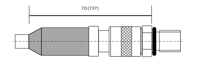 Mated mini coax dimensions