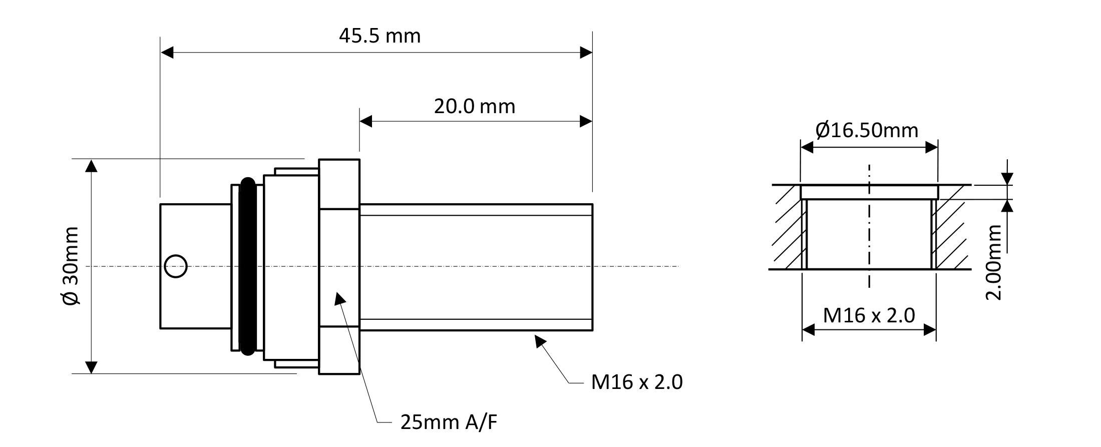 Size 3 Modular bulkhead dimensions