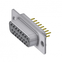 15 way female pcb sub d connector