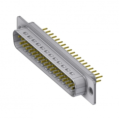 37 way male pcb sub d connector