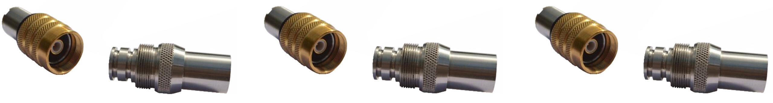 Subsea coaxial connectors