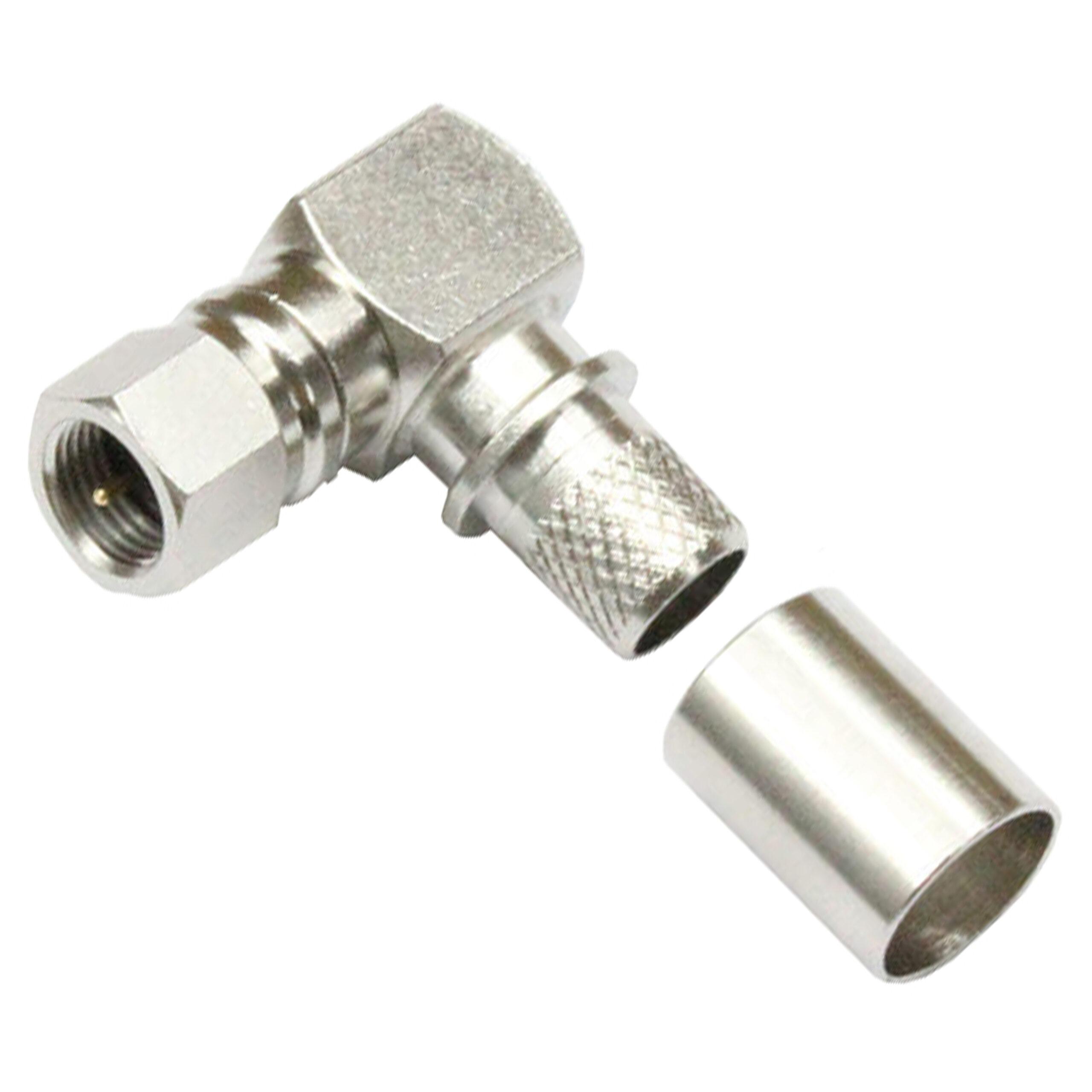 RF coaxial connectors F